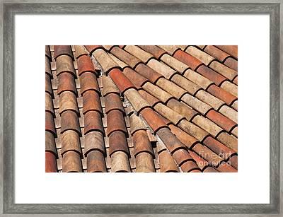 Patterned Tiles Framed Print by Bob Phillips