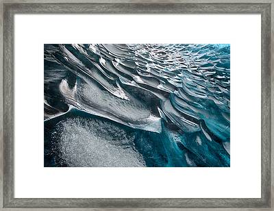 Patterns In Ice Framed Print by Timm Chapman