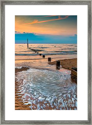 Patterns On The Beach  Framed Print by Adrian Evans