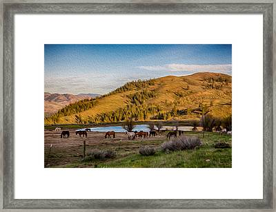 Patterson Mountain Afternoon View Framed Print by Omaste Witkowski