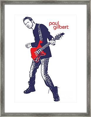 Paul Gilbert No.01 Framed Print by Unknow