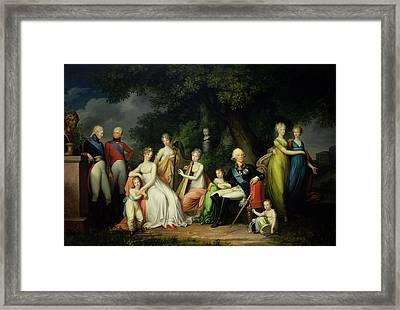 Paul I 1754-1801, Maria Feodorovna 1759-1828 And Their Children, C.1800 Oil On Canvas Framed Print by Franz Gerhard von Kugelgen