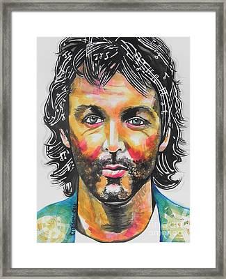 Paul Mccartney Framed Print by Chrisann Ellis