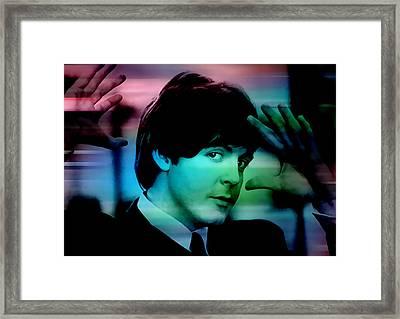 Paul Mccartney Framed Print by Marvin Blaine