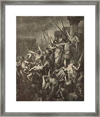 Paul Menaced By The Jews Framed Print by Antique Engravings