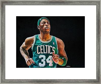 Paul Pierce - The Truth Framed Print by Michael  Pattison
