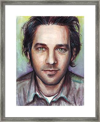 Paul Rudd Portrait Framed Print by Olga Shvartsur