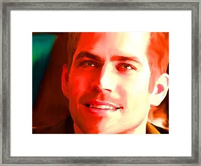 Paul Walker Framed Print by Parvez Sayed