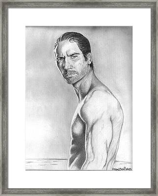Paul Walker Framed Print by Roland Benipayo
