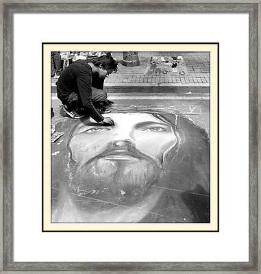 Pavement Artist Framed Print by Daniel Gomez