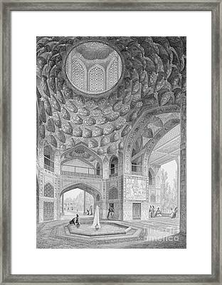 Pavilion Of The Eight Paradises Framed Print by Pascal Xavier Coste