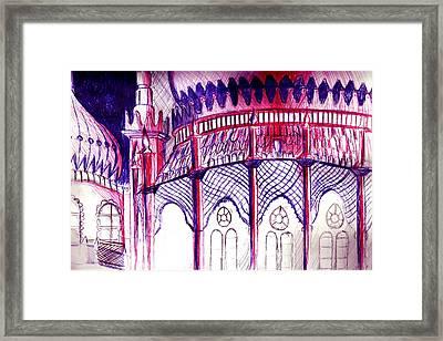 Pavillion At Night Framed Print by Seb Mcnulty