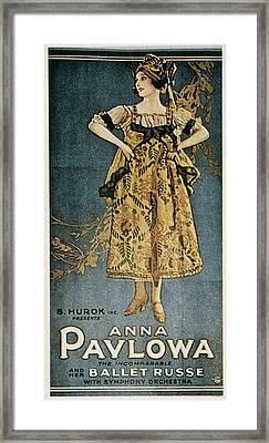 Pavlova, Anna 1882-1931. Poster Framed Print by Everett