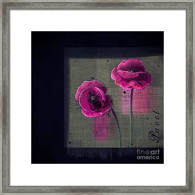 Pavot - S1c12j033036161bl1 Framed Print by Variance Collections