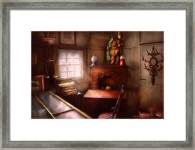 Pawn - In The Pawn Shop Framed Print by Mike Savad