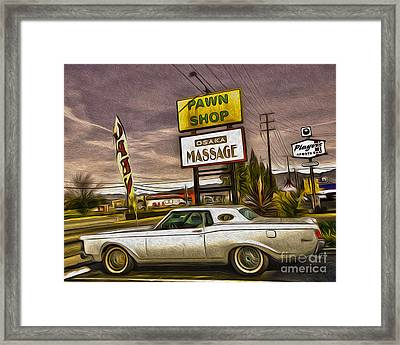 Pawn - Pool - Massage Framed Print by Gregory Dyer
