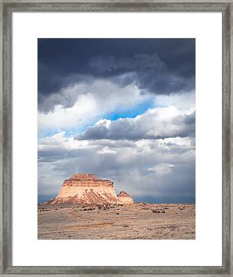 Pawnee Buttes On The High Plains Of Colorado Framed Print by Julie Magers Soulen