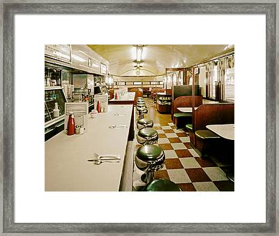 Pawtucket Diner Framed Print by Mountain Dreams