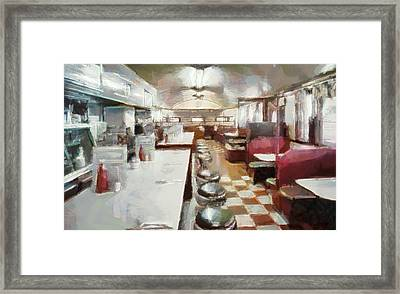Pawtucket Diner Interior Framed Print by Dan Sproul