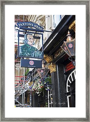 Paxton's Head Pub Framed Print by Cheri Randolph
