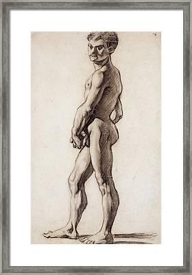 Male Nude Framed Print by Paul Cezanne