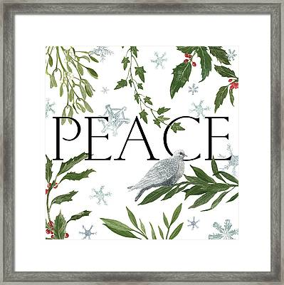 Peace And Joy I Framed Print by Sara Zieve Miller