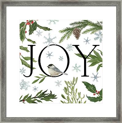 Peace And Joy II Framed Print by Sara Zieve Miller