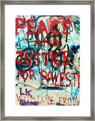 Peace And Justice Framed Print by Munir Alawi