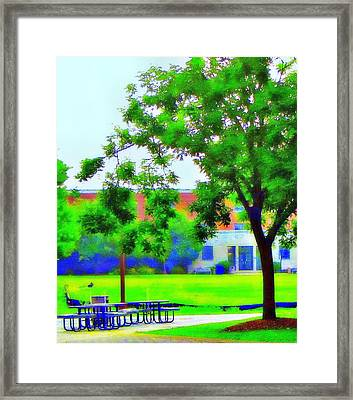 Peace And Lunch Framed Print by Luis A Vera