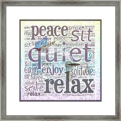 Peace And Quiet 2 Framed Print by Terry Fleckney