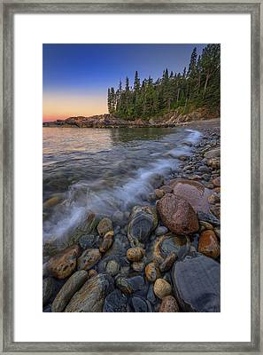 Peace And Quiet On Little Hunters Beach Framed Print by Rick Berk