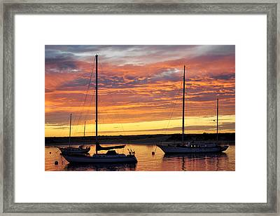 Peace At Days End Framed Print by AJ  Schibig