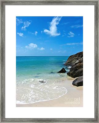 Peace At Whitehaven Framed Print by Nicole Doyle