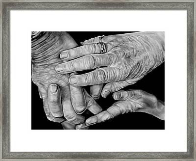 Peace Be Still Framed Print by Curtis James