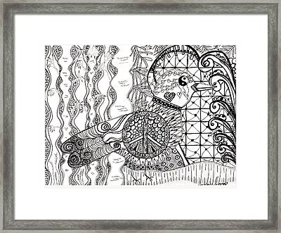 Peace Dove Framed Print by Barbara Giordano