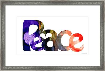Peace Full 1 By Sharon Cummings Framed Print by Sharon Cummings