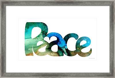 Peace Full 13 Framed Print by Sharon Cummings