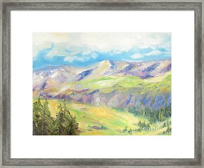 Peace In The Mountains Framed Print by Barbara Anna Knauf