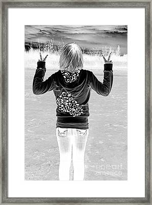 Peace Framed Print by Lori Frostad