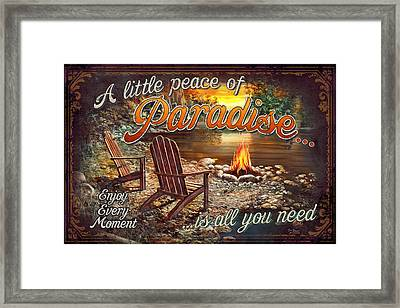 Peace Of Paradise Framed Print by JQ Licensing