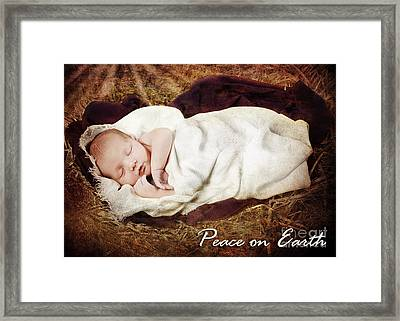 Peace On Earth Framed Print by Cindy Singleton