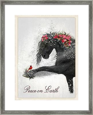 Peace On Earth Framed Print by Fran J Scott