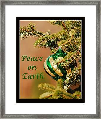 Peace On Earth Framed Print by Francie Davis