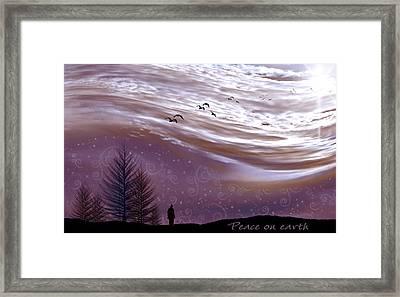 Peace On Earth Framed Print by Holly Kempe