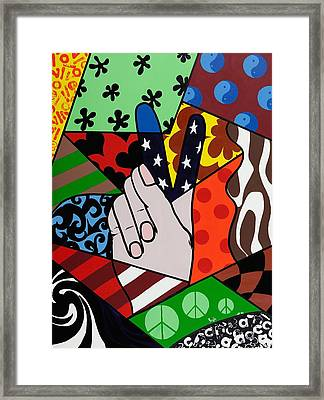 Peace Out Framed Print by GG High