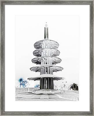 Peace Pagoda - Japan Town - San Francisco Framed Print by Daniel Hagerman