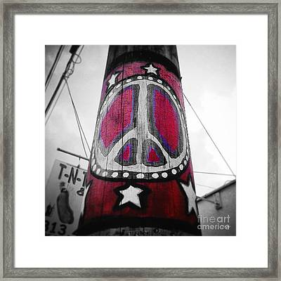 Peace Pole Framed Print by Scott Pellegrin