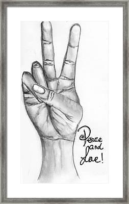 Peace  Framed Print by Salma Ullah