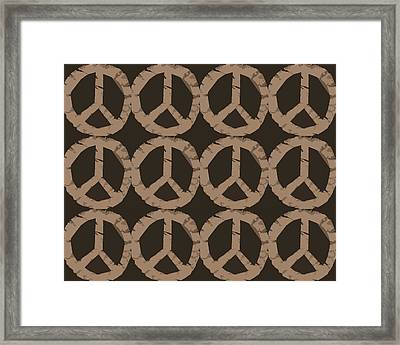 Peace Symbol Collage Framed Print by Michelle Calkins