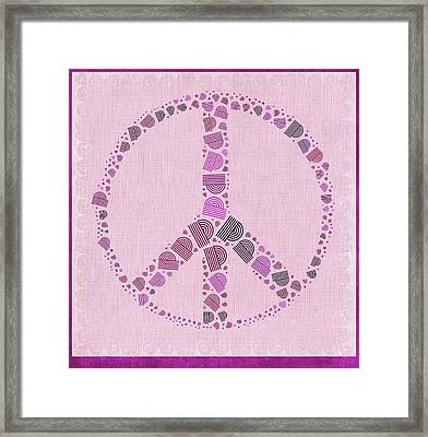 Peace Symbol Design - 42ct2b Framed Print by Variance Collections